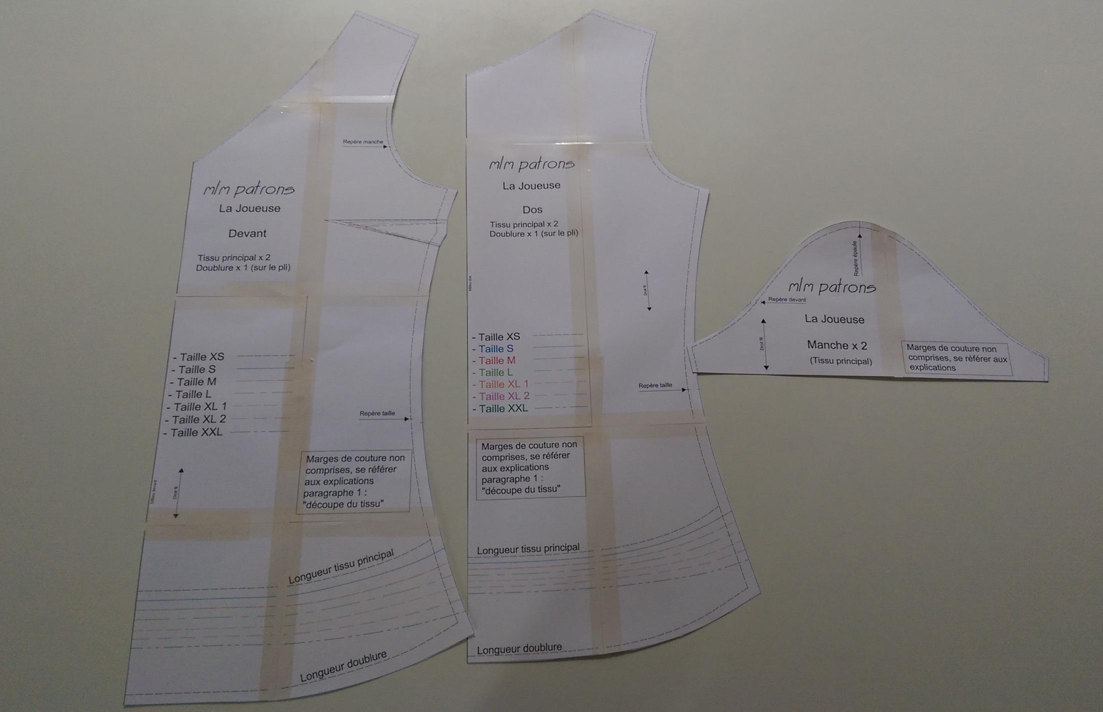 Comment imprimer et assembler un patron pdf marisa mlm mlm patrons - Patron de maison en papier a imprimer ...