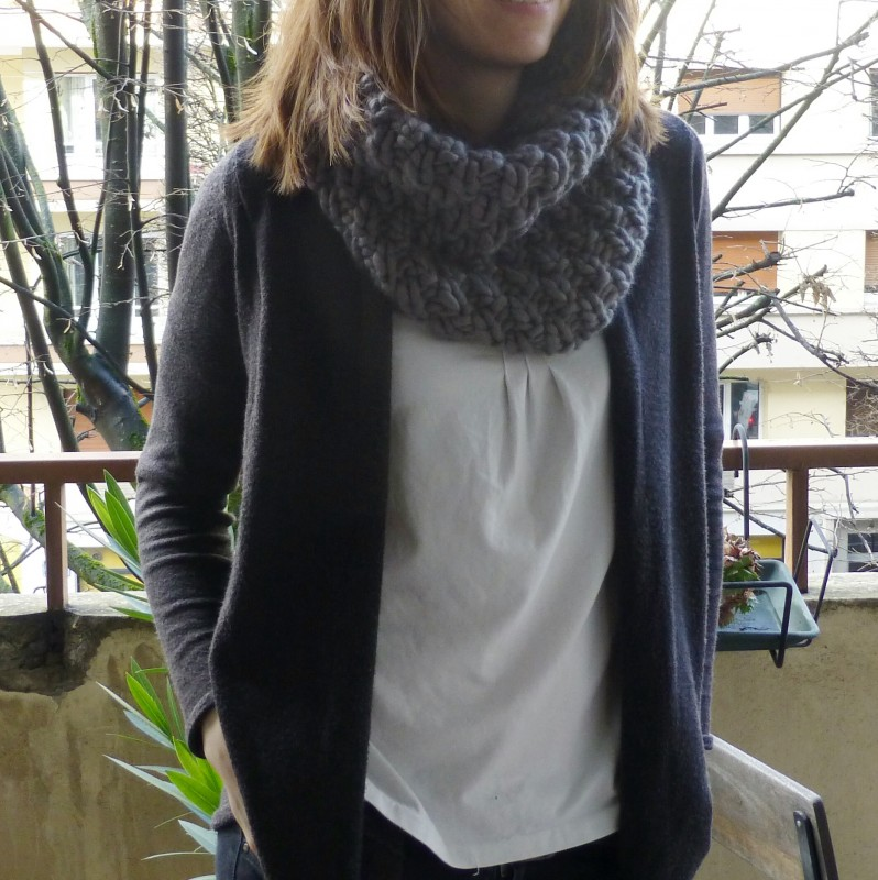 Snood laine mèche (1)