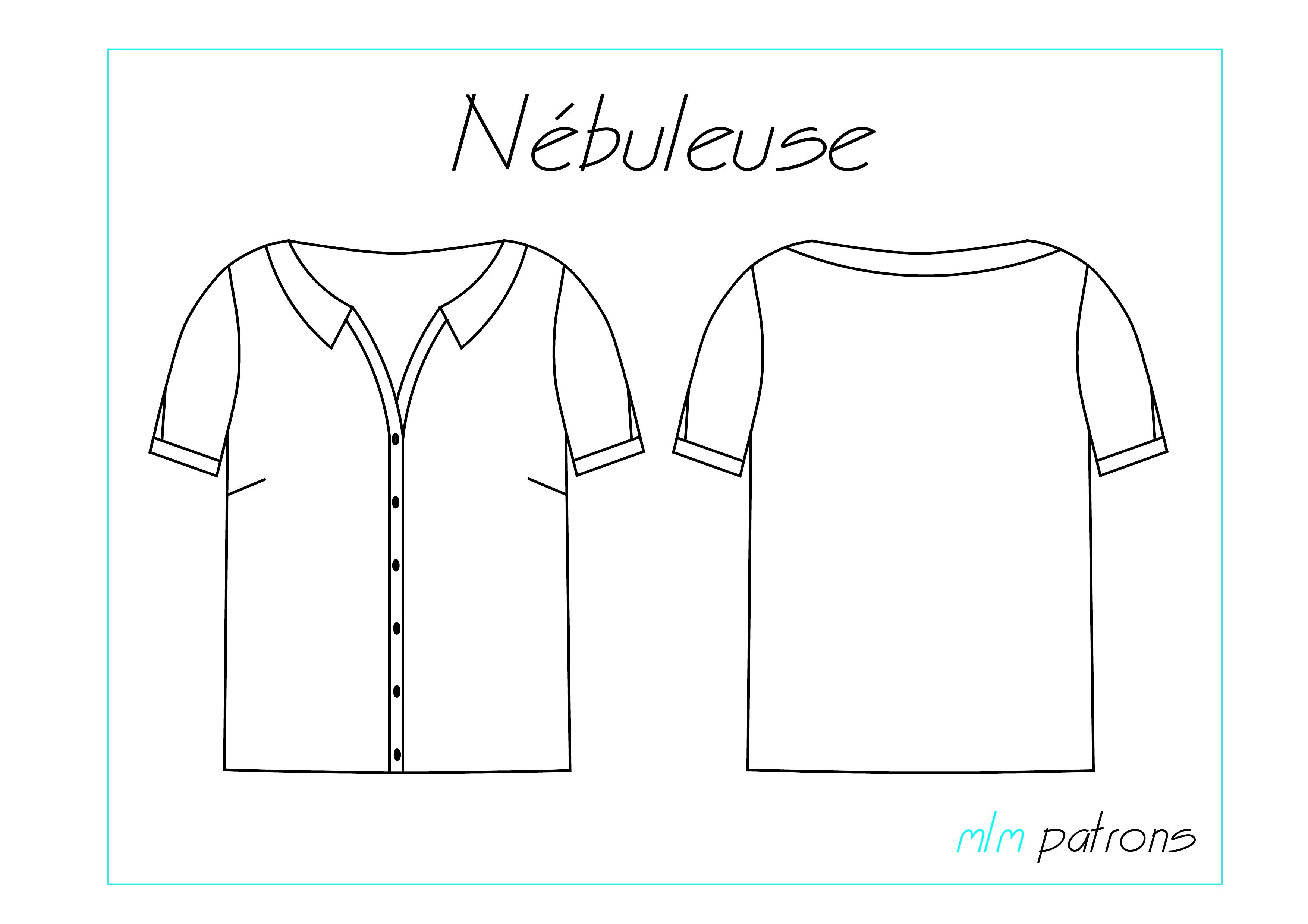 Nouveau patron de couture : La chemise Nébuleuse