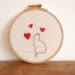 Broderie PDF Le chat